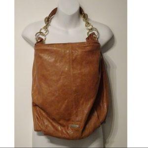 Rebecca Minkoff Camel Vegan Leather Shoulder Bag